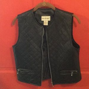 Quilted motorcycle vest